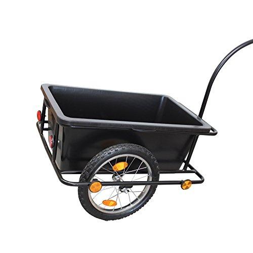 GRAFNER XXL Fahrradanhänger Fahrradlastenanhänger Handwagen 80 kg Zuladung