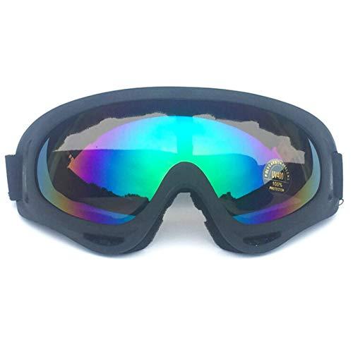 Aienid Sportbrille Zum Skifahren Schwarz Mehrfarbig Skibrille Winddichter Augenschutz Size:18X8CM
