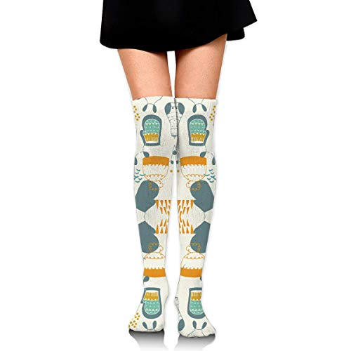 Hygge Gloves Ball Compression Socks Foot Long Stockings Knee High Socks for Men Women Supports Sport Running Cycling Football Slim Leg Travel Medical Nursing