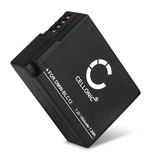CELLONIC® Qualitäts Akku kompatibel mit Panasonic Lumix DMC-FZ1000 DMC-FZ200 DMC-FZ2000 DMC-FZ300 DMC-G5 DMC-G6 DMC-G7 DMC-G70 DMC-G81 DMC-GH2 DMC-GX8, DMW-BLC12 DMW-BLC12E 1000mAh Ersatzakku Batterie