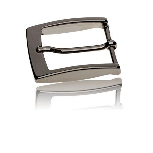 Gürtelschnalle Buckle 35mm Metall Silber Anthrazit - Buckle Facile - Dornschliesse Für Gürtel Mit 3,5cm Breite - Silberfarben Anthrazit