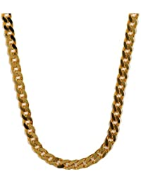 3.4mm 60cm 585Gold 14K Solid Gold Premium Curb Chain Necklace Gold Chain