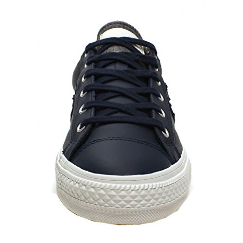 Converse Mens Star Player Leather Ox Leather Trainers Obsidian