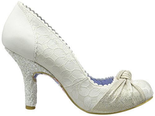 Irregular Choice Damen Smartie Pants Pumps Off-White (Cream)