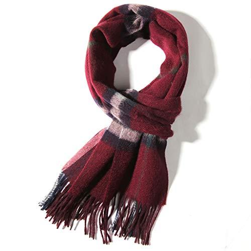 Laine D'automne Et D'hiver Mode Chaude Longue Écharpe Châle (Color : Red)