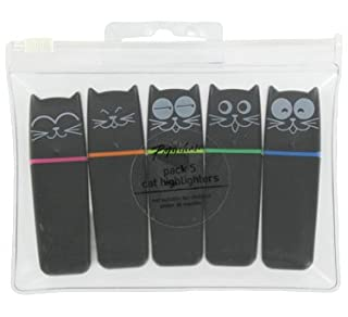 Paperchase cat highlighter pens - pack of 5 (B001GA9AHW)   Amazon price tracker / tracking, Amazon price history charts, Amazon price watches, Amazon price drop alerts