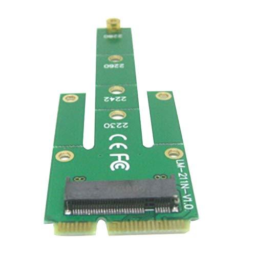 Yeshai3369 mSATA PCI-E SATA 3.0 SSD to NGFF M.2 B + M Key Male Converter Adapter Card Interno Unidad de Disco óptico