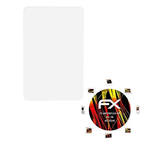 atFolix Schutzfolie kompatibel mit 3Q AC1024C Bildschirmschutzfolie, HD-Entspiegelung FX Folie (2X)
