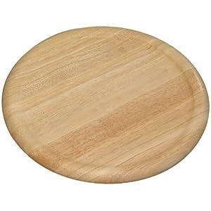 Kesper 60462 Pizza-Teller, aus Gummibaumholz, Maße - ø 32 cm, Stärke - 1,5 cm