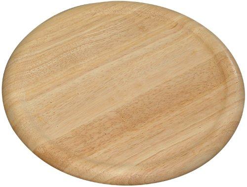 Kesper 60462 Pizza-Teller, aus Gummibaumholz, Maße - ø 32 cm, Stärke - 1,5 cm Pizza-teller