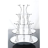 5 Tier Mirrored Party Cupcake Party Cupcake Stand from Wedding Acrylics