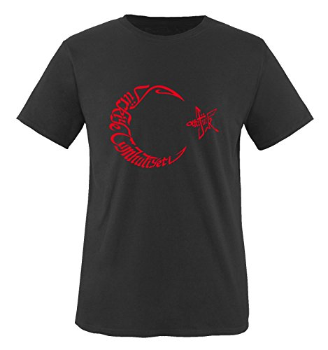 Ay Yildiz Arabic - Türkei - Herren T-Shirt - Schwarz/Rot Gr. 3XL