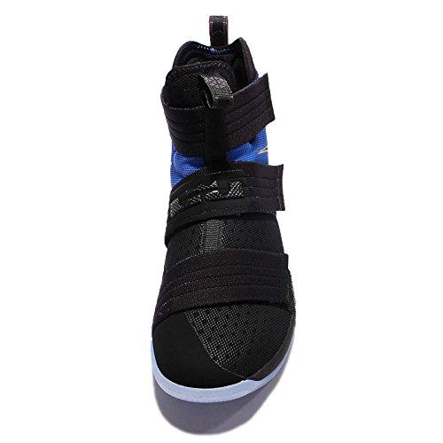 Nike Herren Lebron Soldier 10 Sfg Basketballschuhe, Weiß / Silberfarben Metallisch Schwarz (Black/Black-game Royal)