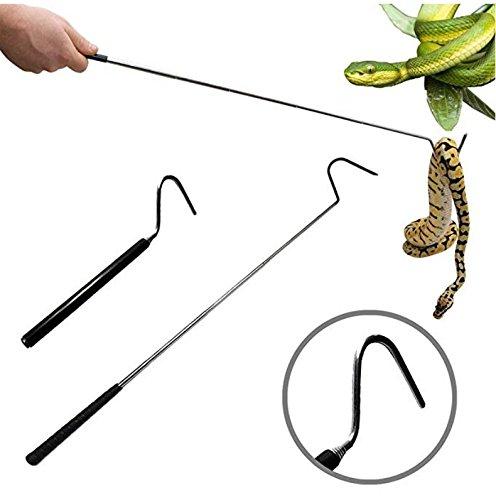 AIDO Zusammenklappbare Snake Hook, fangen und behandeln Corn Snakes, Kingsnakes, Rosy Boas, Ball Pythons und andere kleine Schlangen