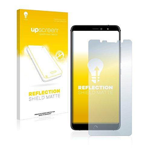 upscreen Entspiegelungs-Schutzfolie kompatibel mit BQ Aquaris X2 / X2 Pro - Anti-Reflex Bildschirmschutz-Folie Matt