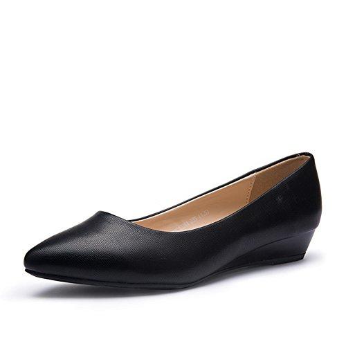 Pente Et Chaussures Femelles De Ressort Et Dautomne, Asakuchi Pointus Chaussures ,Cent Ensembles De Chaussures De Travail De Pieds A
