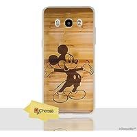 iCHOOSE Cita de Disney Funda/Cubierta del Teléfono para Samsung Galaxy J5 2016 / Silicona Suave de Gel/TPU / iCHOOSE / Mickey - Madera