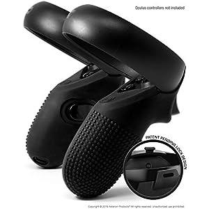Asterion Evolution Controller-Schutzhüllen für Oculus Touch v2, aus Silikon, mit sehr sicherem Verschluss. für Quest und Rift-S (2 Stück)