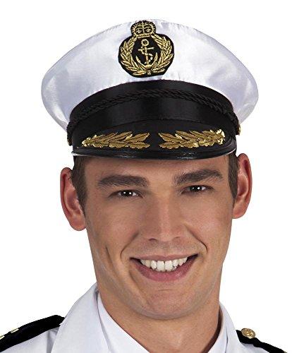 (Deluxe Kapitänsmütze Admiral Edward Herren Mütze Erwachsene Seemann Kapitän Captain)