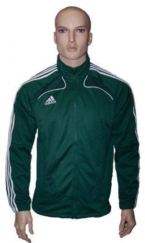 Adidas Trofeo - Felpa sportiva, colore: Verde/bianco, Verde (verde), XL