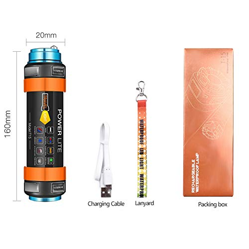 Etophigh LED Camping Laterne Camping Lichter USB wiederaufladbare wasserdichte tragbare Outdoor Laterne mit Energienbank Camping Zelt Licht (2600mAh) 3g-batterie-bank