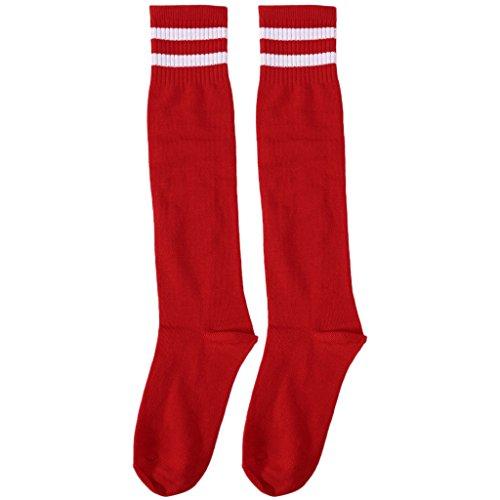 Lamdoo calzini da calcio professionali per bambini calzini da calcio a tinta unita alti al ginocchio - 6#
