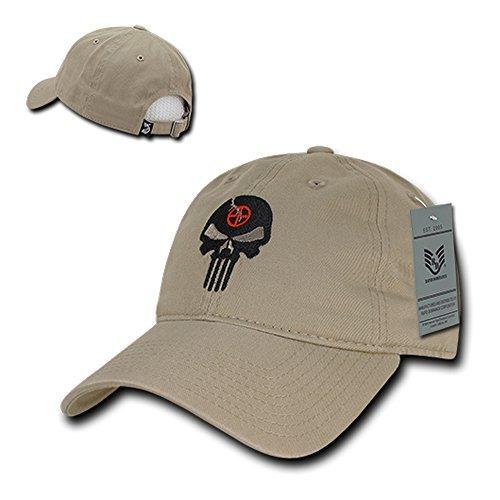 5039e766d Rapid Dominance Punisher Embroidered Low Profile Soft Cotton Baseball Cap -  Khaki