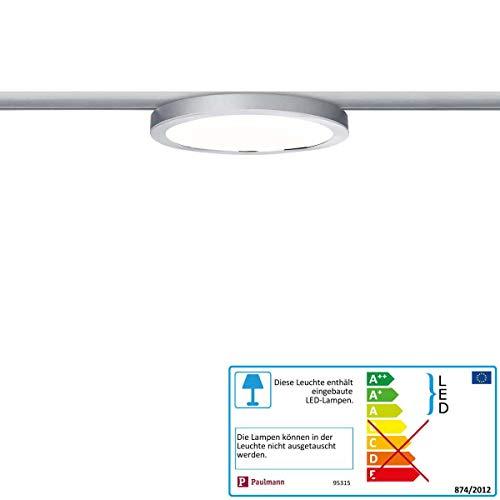 Paulmann LED URail System LED Panel Ring 7W Chrom matt/Chrom 230V Alu/Kunststoff | LEDs fest verbaut 7W 812lm warmweiß | 953.15