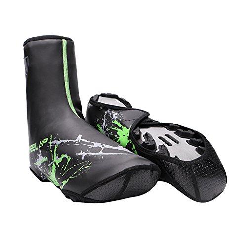 MagiDeal Coppia Copriscarpe Protezione Invernale Calzatura Accessorio Per Bici MTB Impermeabile - verde verde