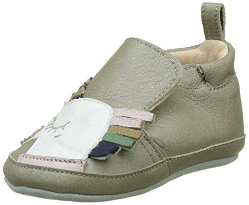 Shoo Pom Chou Licorne, Chaussures de Naissance Bébé Fille Gris (Metal Taupe Multi)