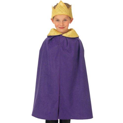 Lila König / Königin Kostüm für Kinder 3-9 (König Kinder Königin Und Kostüme)
