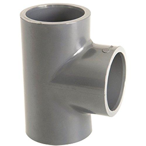 Raccord PVC pression noir en T - Femelle - Ø 20 mm - Girpi