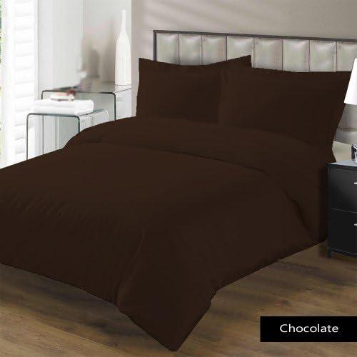 1000TC 300 gsm 1 Fiber Fill 1 gsm Piece Comforter  4 Piece Sheet Set Italian Finish Solid Coloree Cioccolato UK-Single Taglia 100% Cotone Egiziano – by Paradise Oltremare 7e6927