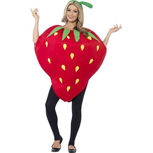 �m Kostüm Erdbeere Erdbeer Kostüm Damen Obst Faschingskostüm (Obst Dame Kostüme)