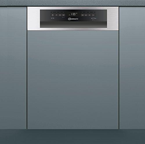 Bauknecht GCI 826 IX Geschirrspüler teilintegrierbar, A++, 45 cm, 211 kWh/Jahr, 10 MGD, Extra Trocknen, Option Multizone, Startzeitvorwahl