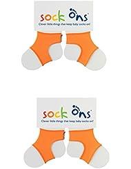 Sock Ons 2 paires de chaussettes pour bébé de 6 à 12 mois Bleu/bleu marine