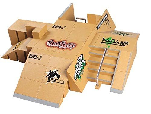 Kofun 11pcs Skate Park Kit Rampe Teile für Tech Deck Griffbrett Mini Finger Skateboard - Tech Räder Deck