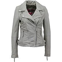 Amazon.es: chaquetas piel mujer - Blanco