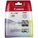 Canon - PG-510 & CL-511 - Cartouches d'Encre - Noir & Couleur