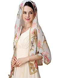 Prettystern - 165cm foulard transparent – Motifs: roses - 3 Couleurs