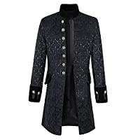 TIMEMEAN Mens Jacket Warm Winter Trench Long Outwear Button Smart Overcoat Coats