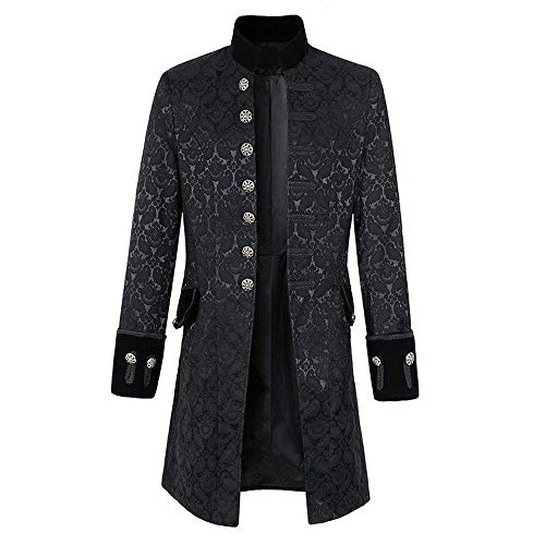 Clearance Tailcoat Outwear Autumn Daily Praty Costume Winter Tops Men Frock Casual Coat Gothic Men's Timemean Uniform Jacket Print oCBedx
