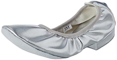 Sansha TK11PU Izmir Chaussure de Danse Oriental pour Femme en Toile - Argent - 39 EU (Taille Fabricant: 9)