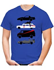 Kult Cars T-Shirt | A-Team | Ghostbusters | Knight Rider | Back to Future | Fun