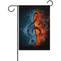 8-Eck Säule La Traviata  Edelrost Rost Musik Notenschlüssel Violinschlüssel Deko