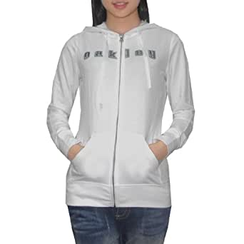 Oakley Womens Surf & Skate Zip-Up Hoodie Small White