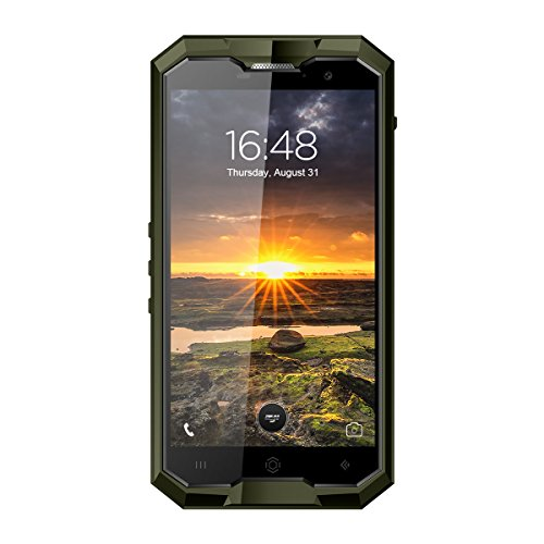 HOMTOM ZOJI Z8-5,0 Zoll 4G FDD-LTE Smartphone, IP68 Wasserdicht, Android 7.0 Octa Core 4GB+64GB, Fingerabdruckscanner, OTG, 4250mAh, Doppelkamera 13MP+16MP, Doppel SIM, Entsperrt Handy, Grün