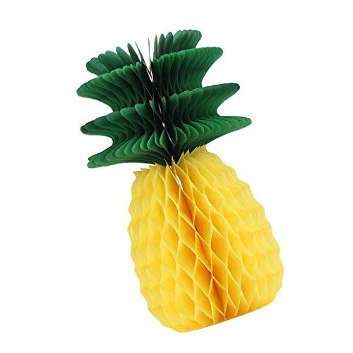 apier hängende Tropische Ananas Papier Tissue Ball Ballform Honeycomb Wabenball Wabenkugel, Pom Dekoration für Party ()