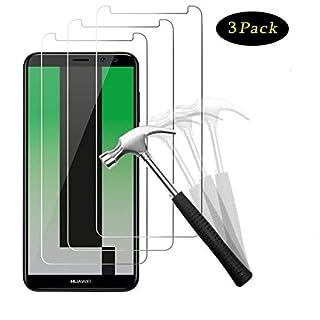 NUOCHENG Panzerglas für Huawei Mate 10 Lite, [3 Stück] Gehärtetes Glas Schutzfolie mit [9H Härte] [Anti-Kratzen] [Blasenfrei] [2.5D Rand] [HD Klar] Displayschutzfolie Folie für Huawei Mate 10 Lite