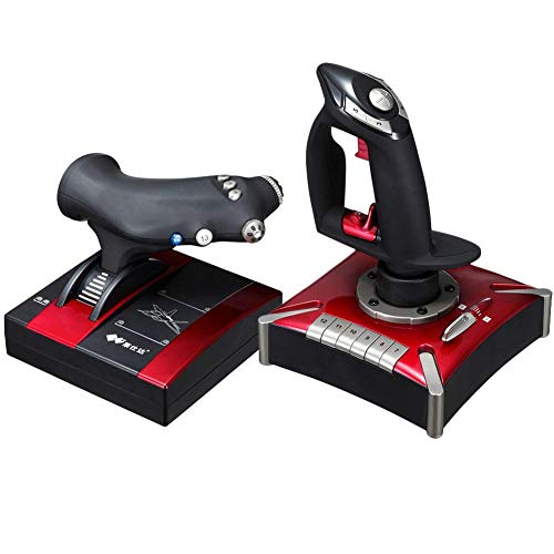 Flight Simulator Hotas PC Game PXN-2119II Interfaccia USB Game computer Joystick di volo con controller di vibrazione compatibile con Windows XP Vista 7 8 10